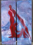 36 x 12 Original Watermixable Oil on