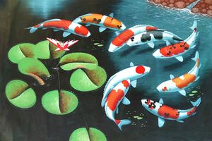 KOI CARP FISH 120cm x 90cm #1