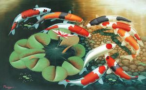 KOI CARP FISH 120cm x 90cm #8