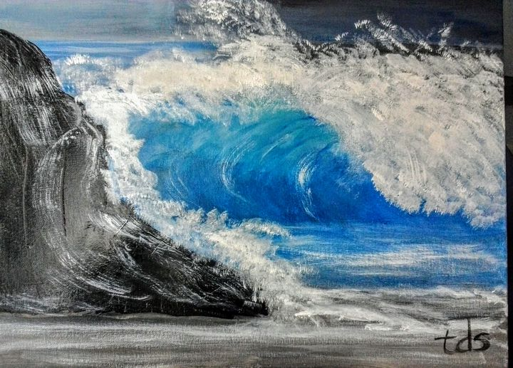Stormy Ocean Waves - The Shaky Artist