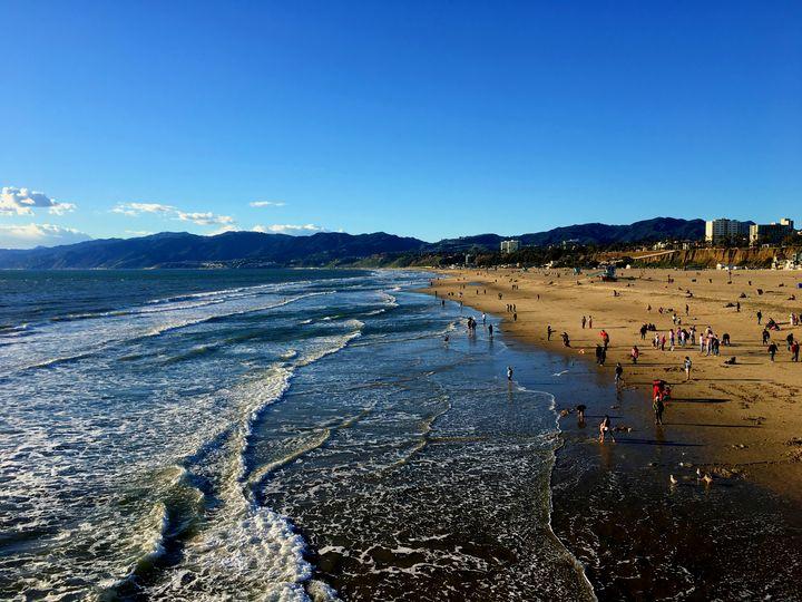 Santa Monica Beach - Los Angeles - City View Photographs