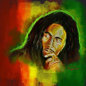 Bob Marley Abstracto