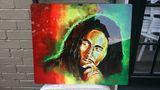 Bob Marley Abstracto Metal Painting