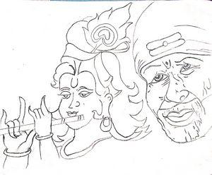 Shri Krishna and Sai Baba
