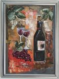 Original Painting - Grape & Wine