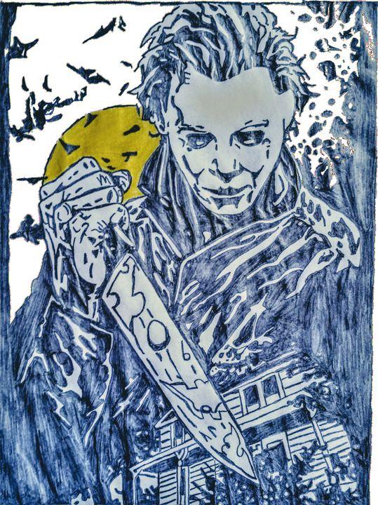 Michael Myers Grims Pencil Art Drawings Illustration