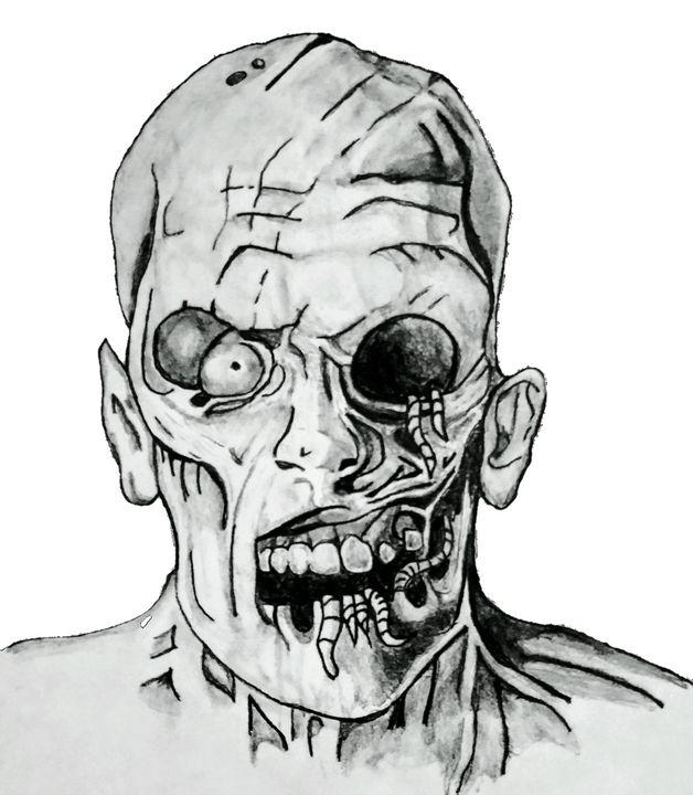 The Evil Zombie Grims Pencil Art Drawings Illustration Fantasy Mythology Other Fantasy Mythology Artpal