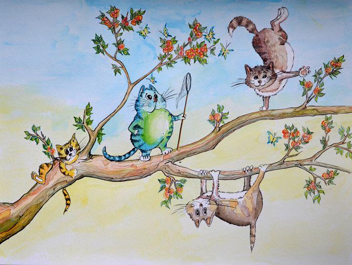 Happy Spring Cats - Kateryna Dibrova
