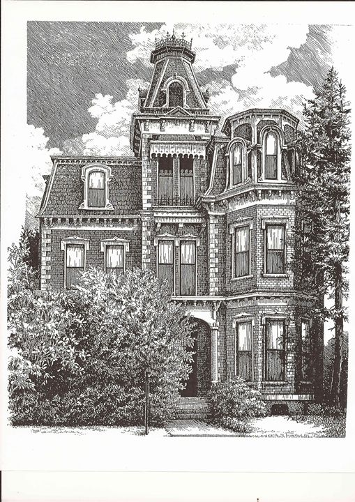 Mansion Drawing: Drawings & Illustration