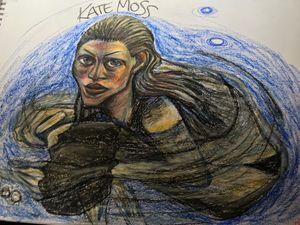 Kate Moss Swimming
