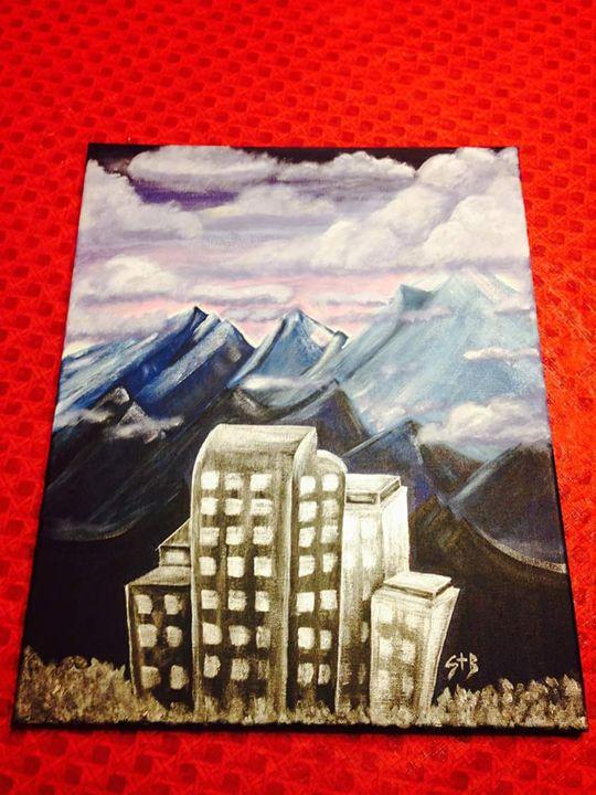 Denver skyline - Esiret Art