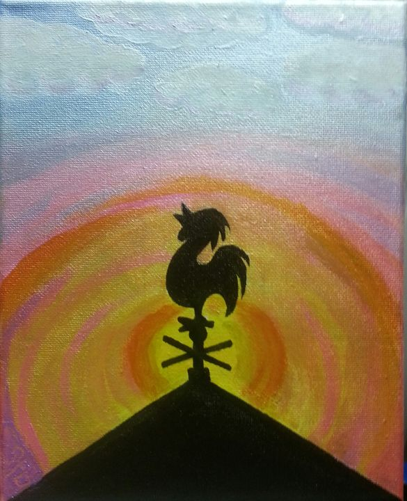 rooster sunrise - Esiret Art