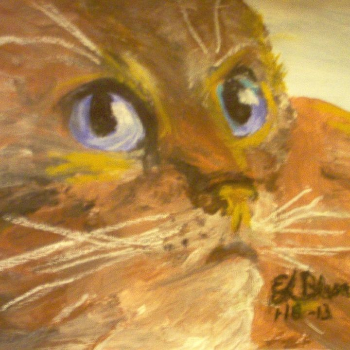 Blue Eye Cat, - BlueJayArt1958