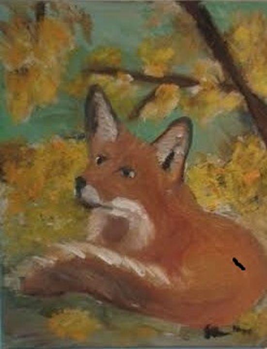 Red Fox in the Fall - BlueJayArt1958