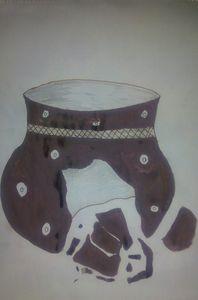 Broken African Pot