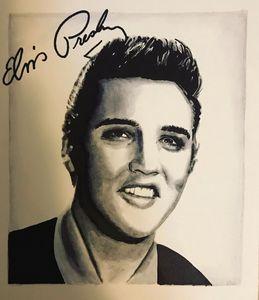Elvis Presley original portrait art