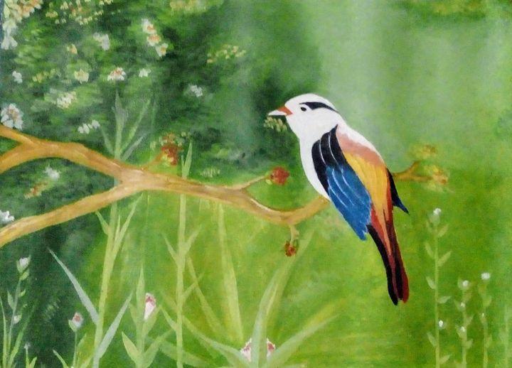 White bird - Smruti Artworks