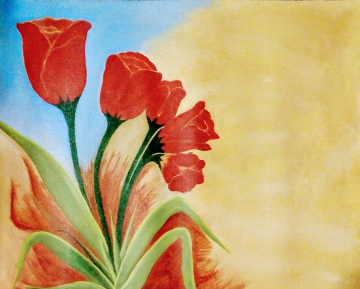 Red tulips - Smruti Artworks