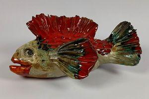 Red ceramic Fish