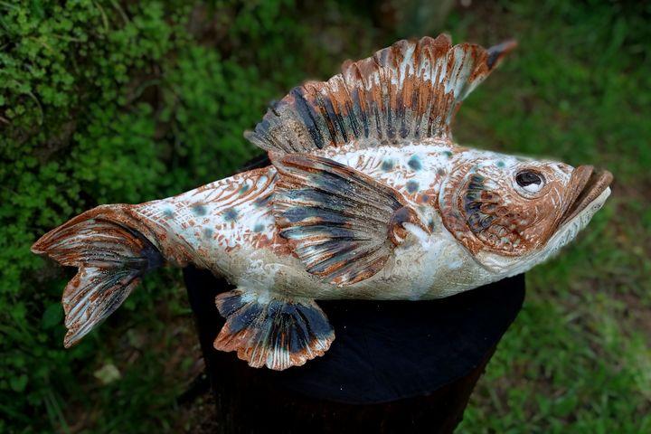 Stoneware fish - Studio Bongard