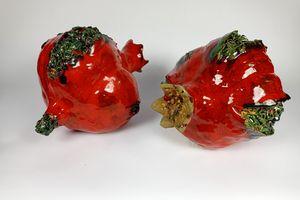 Stoneware clay Pommegranates