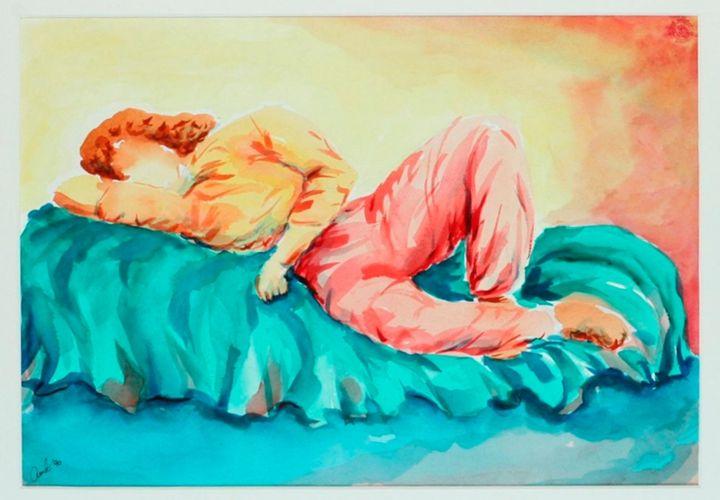 Laying woman on sofa - Amit Bar
