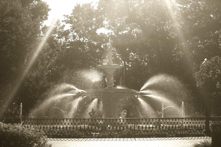 Forsyth Park Fountain Haze - Gypsy Light Photography