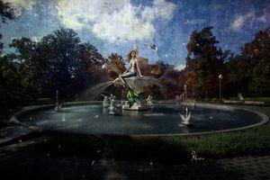 The Mermaid in Forsyth Fountain