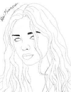 Young woman outline