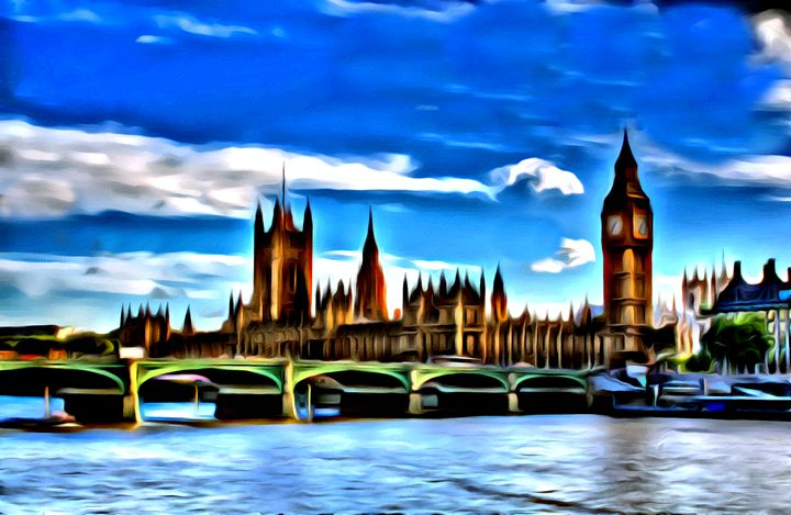 Parliament in London - Prints by Michel