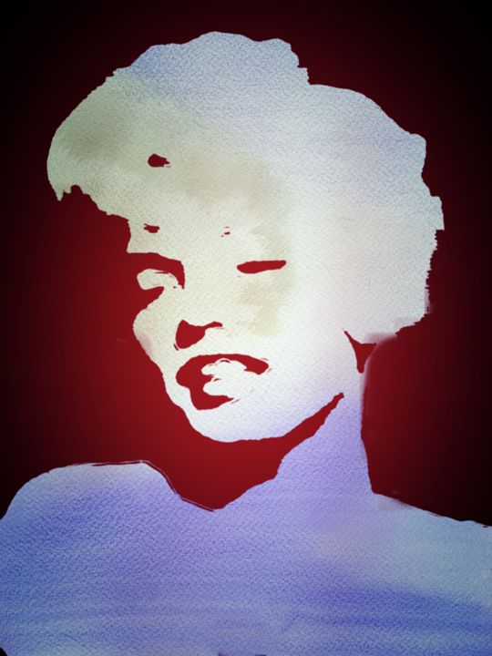 """Marilyn Monroe Sadness"" - Prints by Michel"