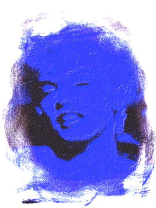 """Marilyn Monroe Blues"" - Prints by Michel"
