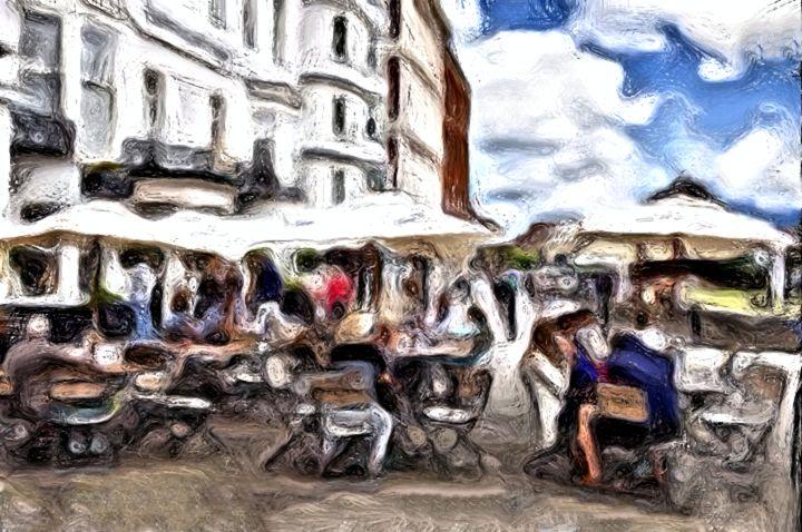 """Cafe Enjoyment"" - Prints by Michel"