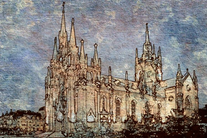 Catholic Cathedral Moscow - Prints by Michel