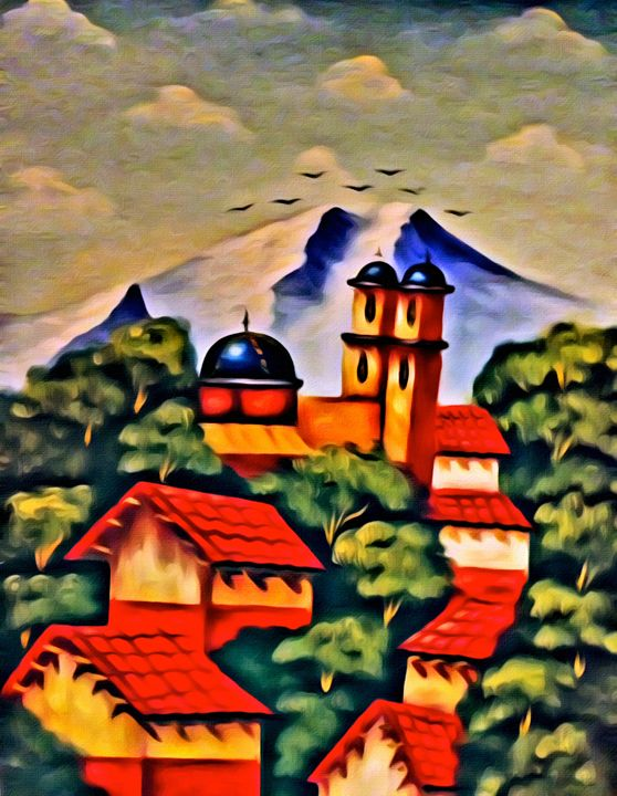 Spanish Mountain Scene - Prints by Michel