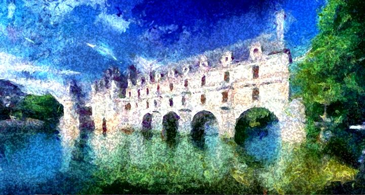Castle Over Water - Prints by Michel