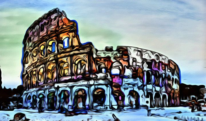 Roman  Colloseum - Prints by Michel