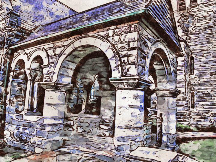 Church Portico - Prints by Michel