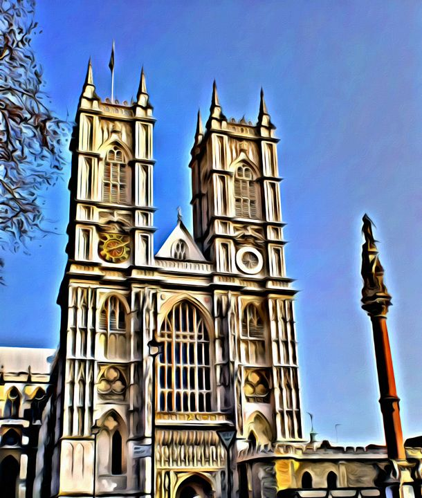 Westminster-Abbey in London - Prints by Michel