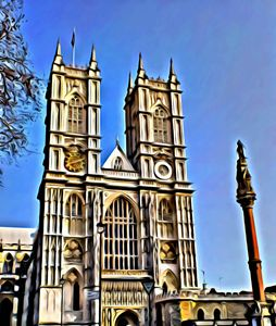 Westminster-Abbey in London