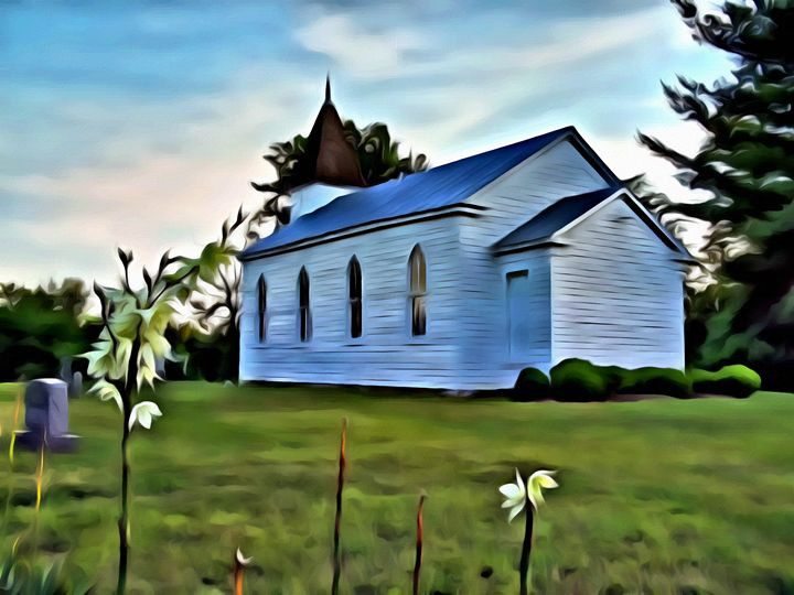 Lonely Church - Prints by Michel