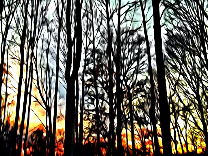 Painted Forest - Prints by Michel