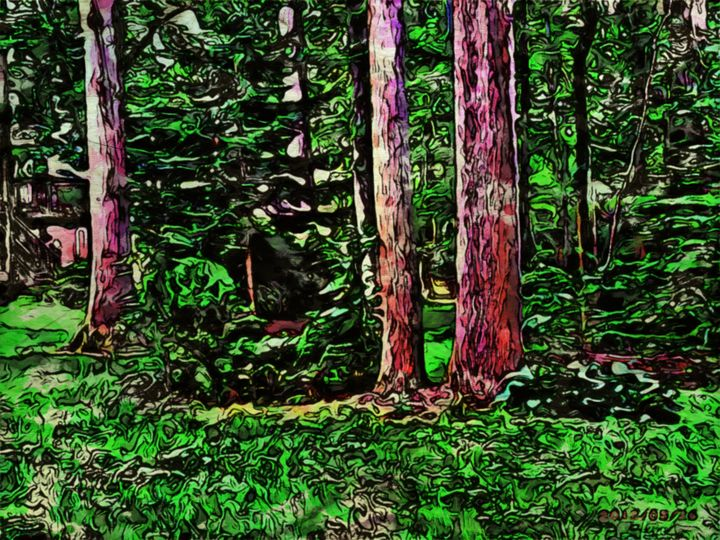 Forest Scene - Prints by Michel