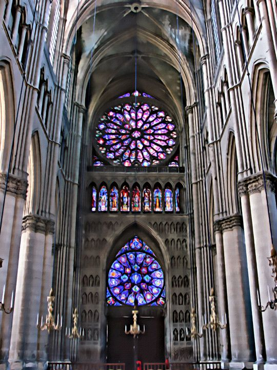 Reims Cathedral - Prints by Michel