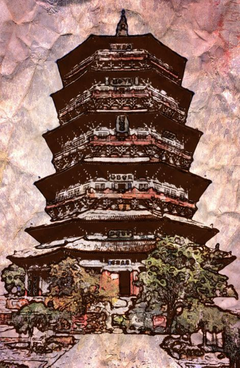 Japanese Pagoda - Prints by Michel
