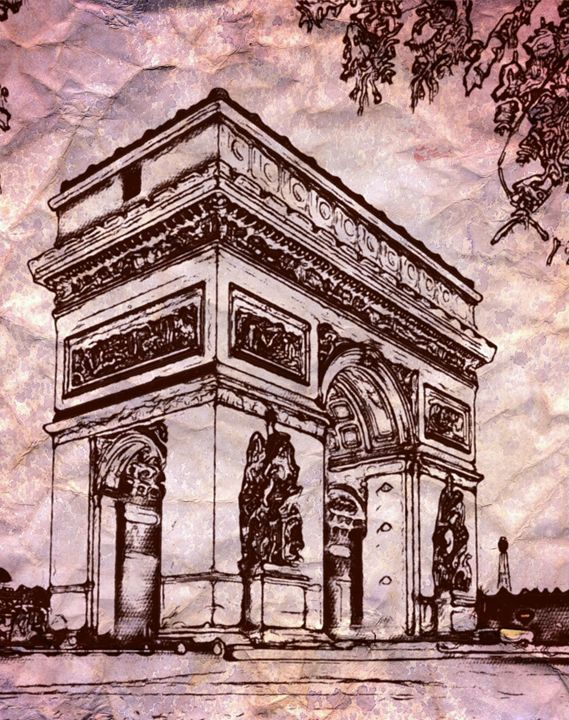The Arc de Triomphe - Prints by Michel