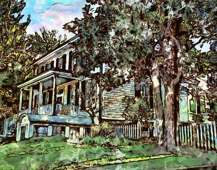 Country House - Prints by Michel
