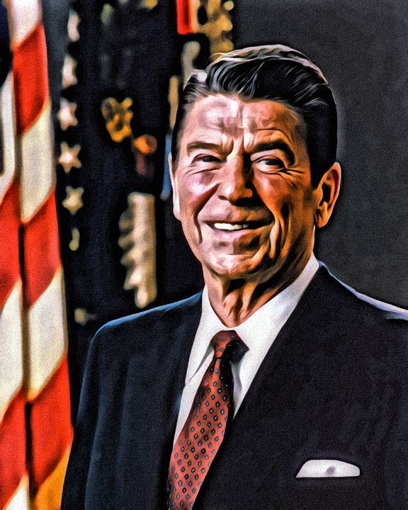 "Ronald ""The Gipper"" Reagan - Prints by Michel"