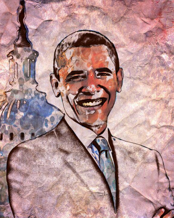 Barack Obama - Prints by Michel