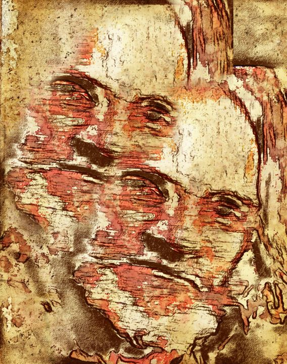 """""""Faces Etched in Stone"""" - Prints by Michel"""